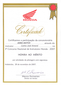 3º Concurso Nacional para Instrutores