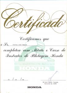 HONDA Instrutor de Pilotagem 1999