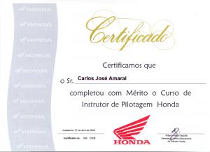 HONDA Instrutor de Pilotagem