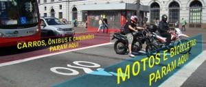 Distância entre os veículos e pedestres