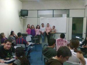 Dinâmica em grupo, aulas de Direção Defensiva em CFC. Aprendizagem teórica