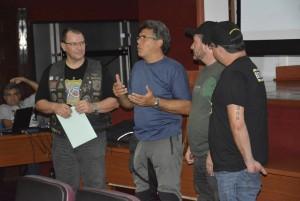 Carlos A. Zuffo, presidente dos Viageiros, Carlos Amaral e os instrutores Hebert e Leon, do Rio de Janeiro